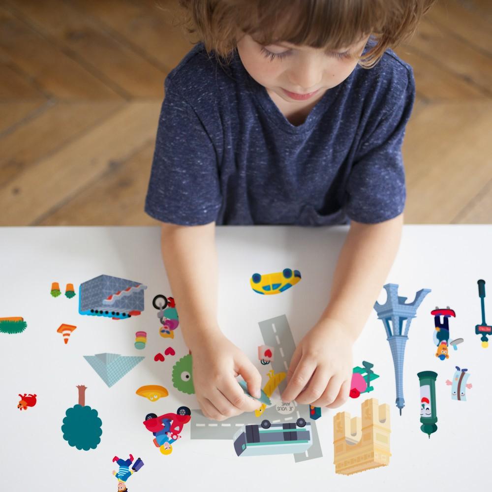 Omy Planche de stickers muraux Paris - 100 stickers-product