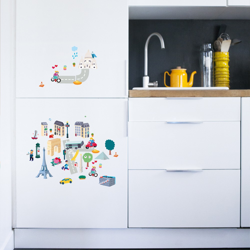 Omy Stickers murales París - 100 stickers-product