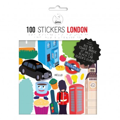 Omy Planche de stickers muraux Londres  - 100 stickers-product