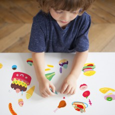 Omy Planche de stickers muraux Food - 100 stickers-listing