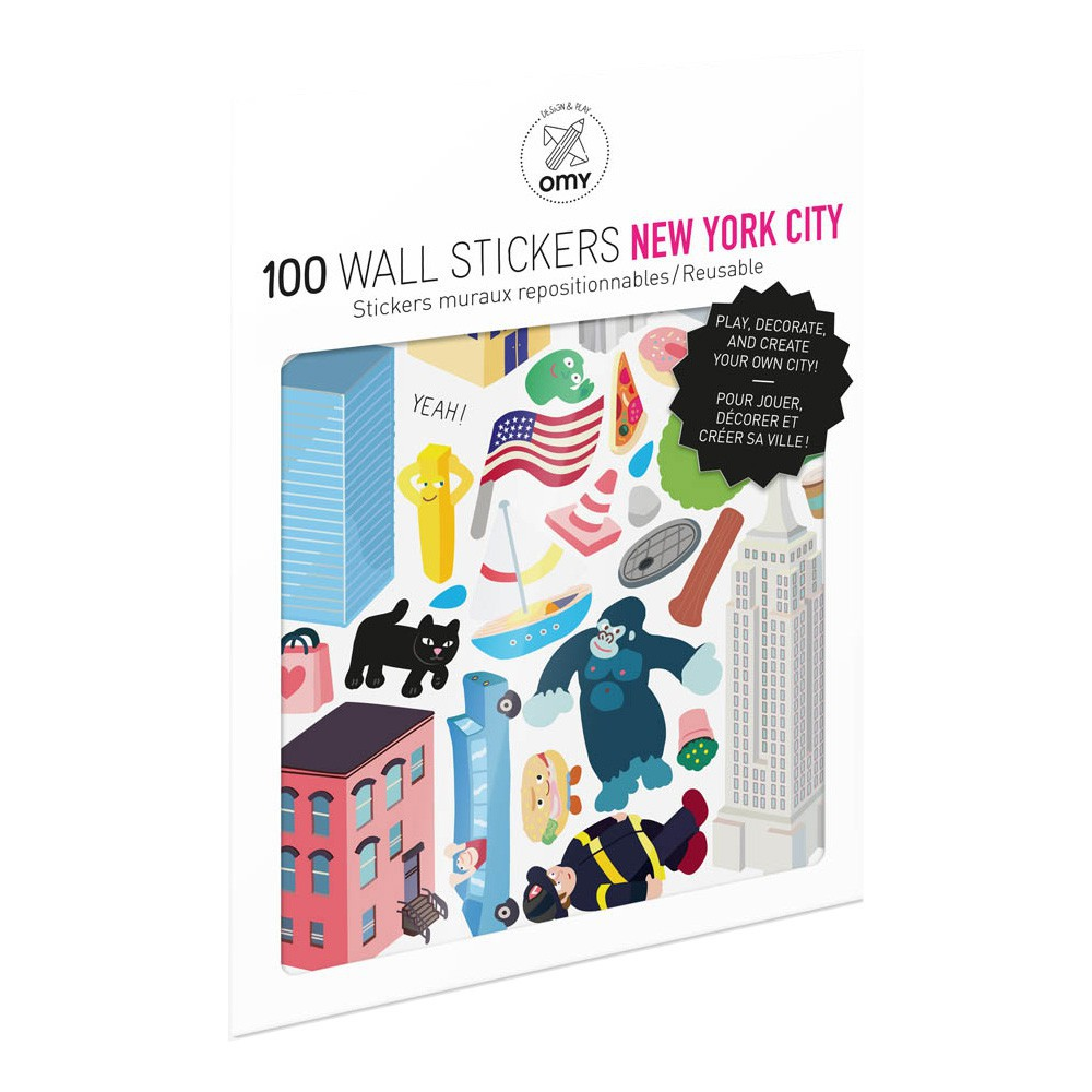 Omy Planche de stickers muraux New York City  - 100 stickers-product