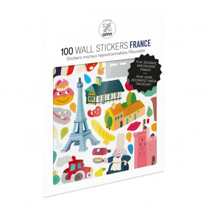 Omy Planche de stickers muraux France  - 100 stickers-listing