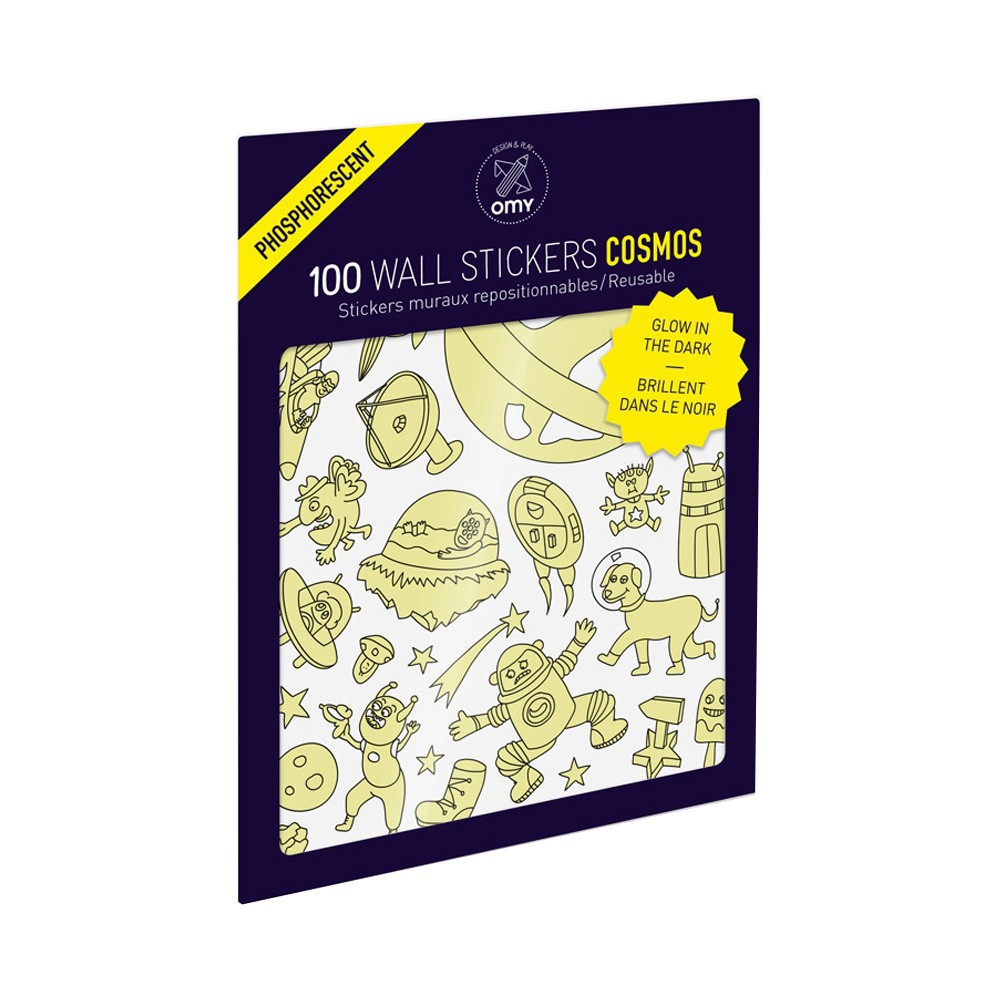 Omy Stickers murales fosforescente Cosmos - 100 stickers-product