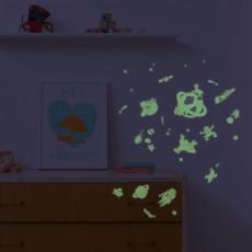 Omy Stickers da muro fosforescenti Cosmo - 100 Stickers-listing