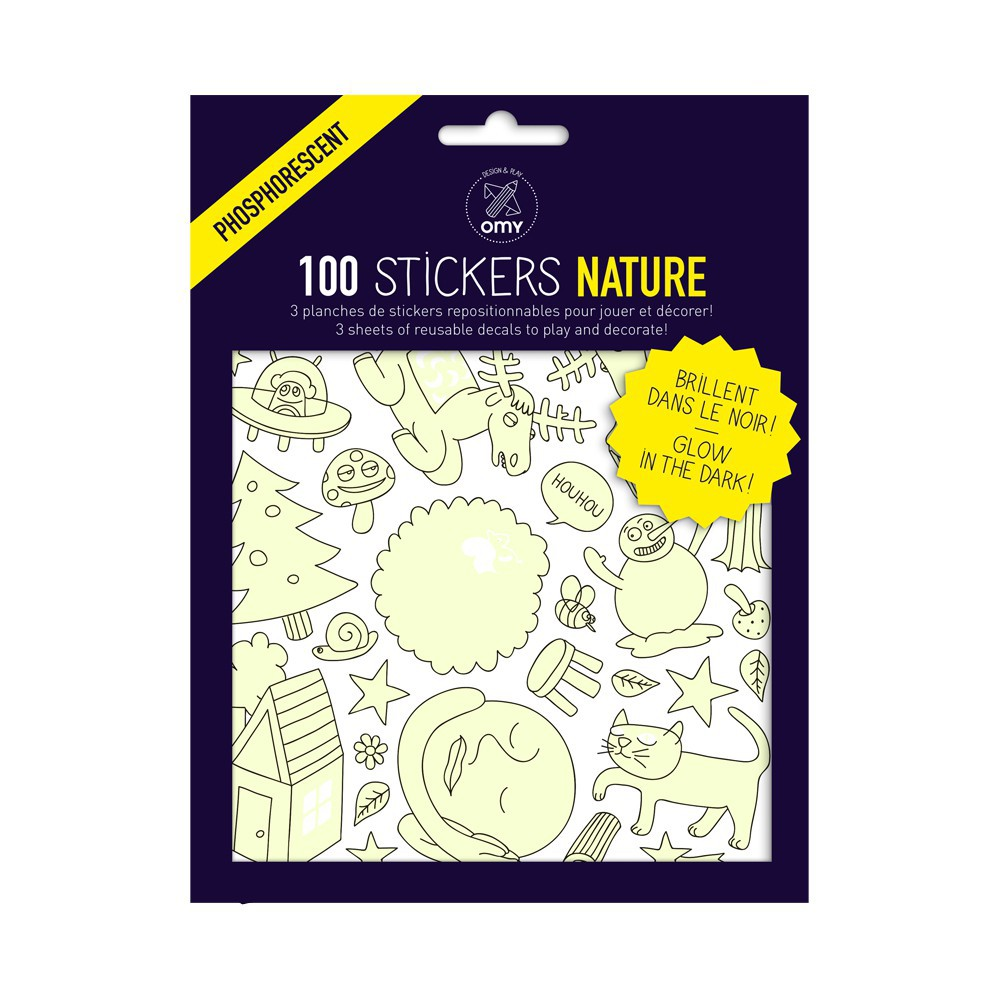 Omy Nature Phosphorescent Wall Stickers - Set of 100-product