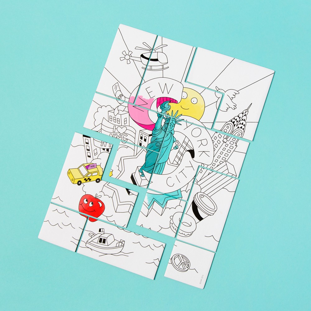 Omy Puzzle à colorier New York City-product