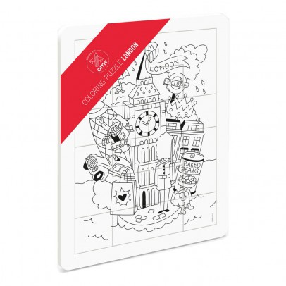 Omy London Colouring Puzzle-listing