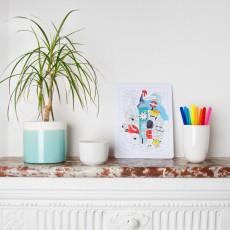 Omy Puzzle à colorier Londres-listing