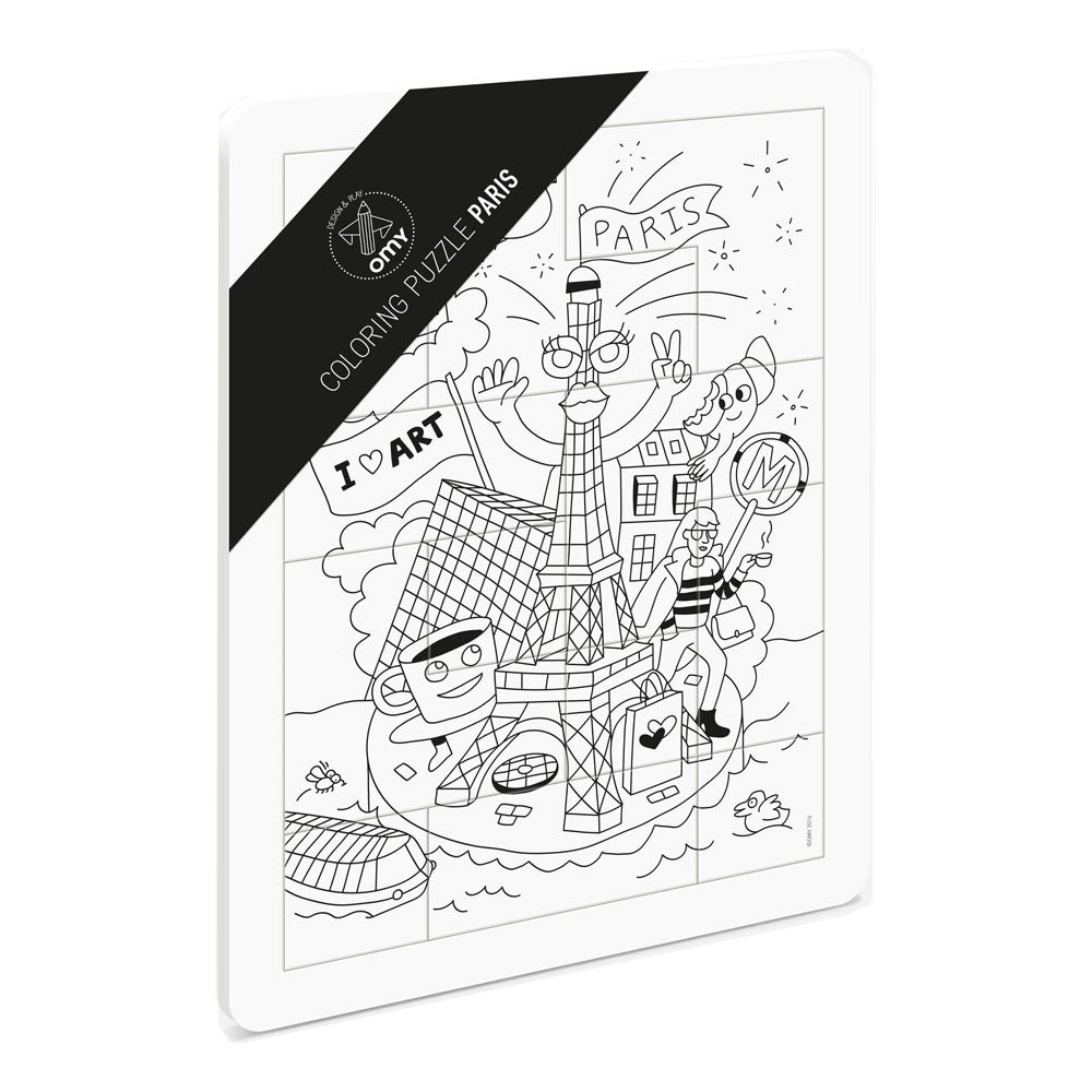Omy Puzzle para colorear París-product