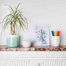 Omy Puzzle para colorear París-listing