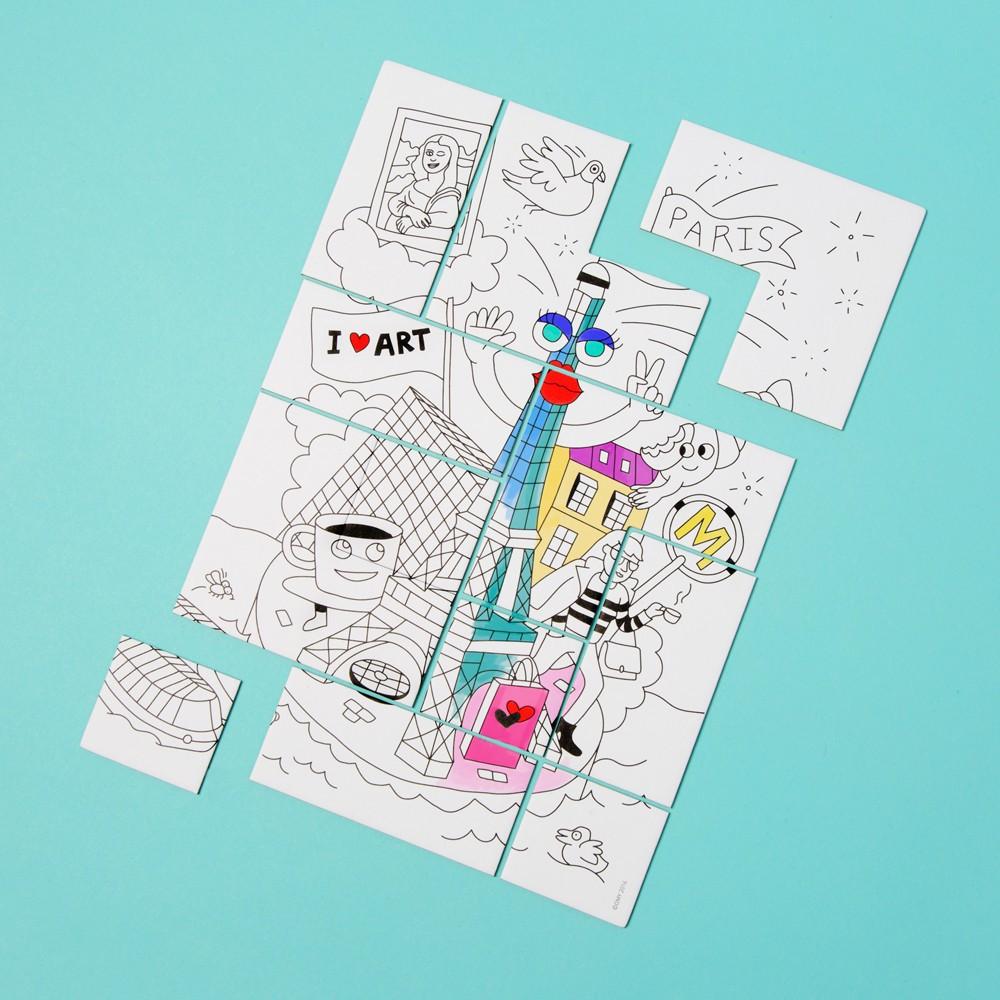 Puzzle para colorear París-product