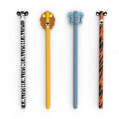 Kikkerland Set 3 matite Safari-listing