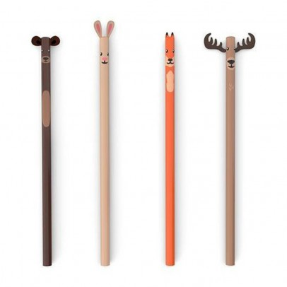 Kikkerland Set 3 matite Foresta-listing