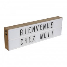 Smallable Home Boîte rectangulaire affichage lumineux 50x15 cm-product