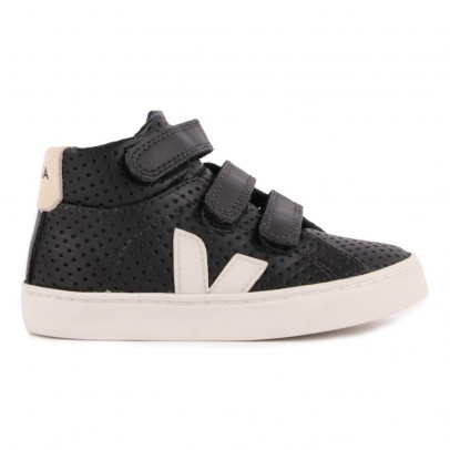 Veja Veja & Smallable Perforated Leather Esplar Mid High Top Trainers-listing
