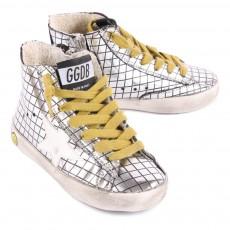 Golden Goose Baskets Carreaux Cuir Mirroir Francy-listing
