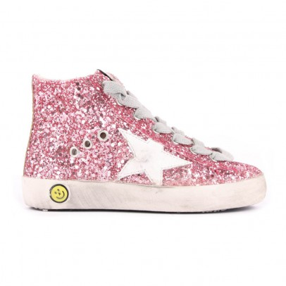 Golden Goose Francy Sequin Trainers with Zip-listing