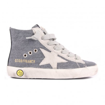 Golden Goose Fancy Lined Denim Trainers with Zip-listing