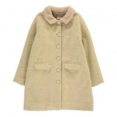 Caramel Larimar Fur Collar Coat-listing