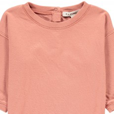Caramel Nummite Button Back Jersey Lined T-Shirt-listing