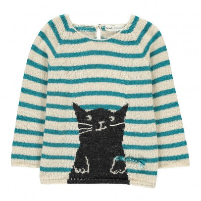 Oeuf NYC Cat Stripe Alpaca Wool Smallable x OEuf Exclusive Jumper-listing