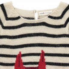 Oeuf NYC Fox Stripe Alpaca Wool OEuf x Smallable Exclusive Jumper-listing