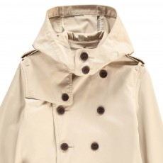 Burberry Hooded Mini Britton Trench Coat-listing