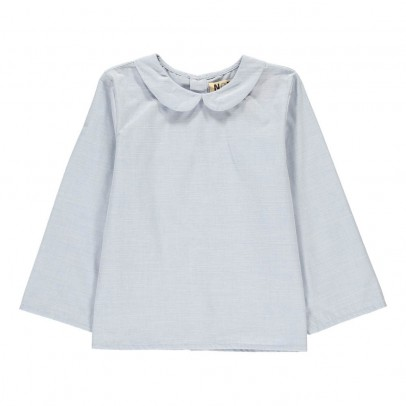 Noro Blouse Chambray Col Claudine-listing
