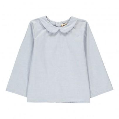Noro Pan Collar Chambray Blouse-listing