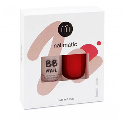 Nailmatic Romy Dark BB Nail Varnish - Set of 2-listing