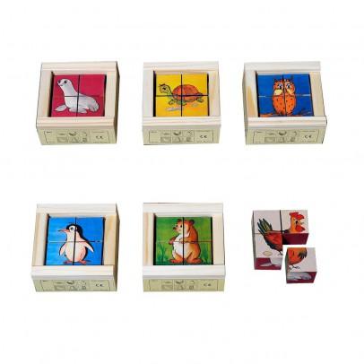Atelier Fischer Puzzle 4 cubes Zoo-listing