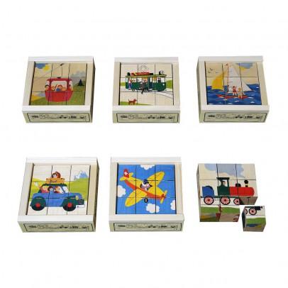 Atelier Fischer Puzzle 9 cubos Medios de transporte-listing