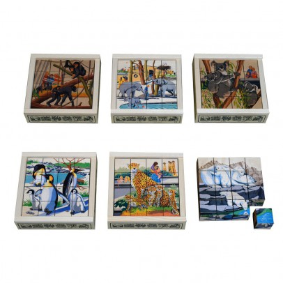 Atelier Fischer Puzzle 16 cubos Zoo-listing