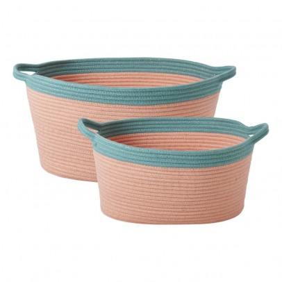 Rice Cestas de almacenamiento Ovales - Lote de 2-product