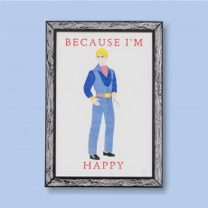 THE prints by Marke Newton I'm Happy Ken Poster 29.7x42cm-listing
