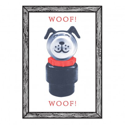 THE prints by Marke Newton Affiche Woof Woof 29,7x42 cm-listing