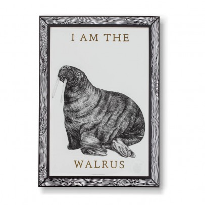 THE prints by Marke Newton Walrus Poster 29.7x42cm-listing