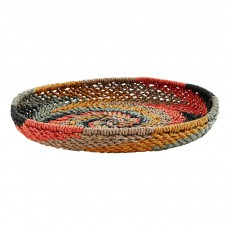 product-Madam Stoltz Wicker and Paper Basket D30.5x4.5cm