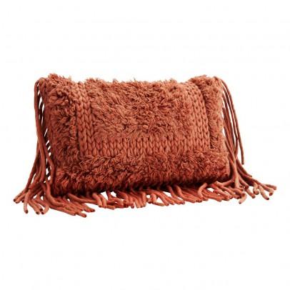 Madam Stoltz Cojín con flecos de lana-product