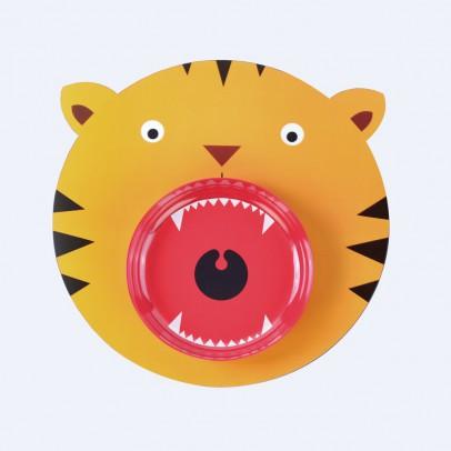DOIY Set de table et assiette tigre-listing