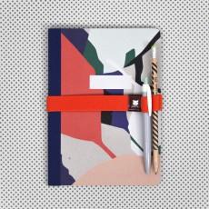 Papier Tigre Elastique pour carnet avec porte stylo Mexico-listing