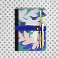 Papier Tigre Elastique pour carnet avec porte stylo Athènes-listing