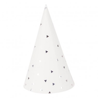 My Little Day Chapeaux pointus triangles métallisé - Lot de 8-listing
