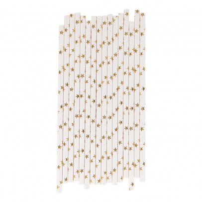 My Little Day Metallic Star Paper Straws - Set of 25-listing