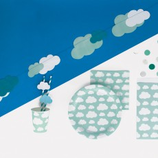 My Little Day Pailles en papier nuages - Lot de 12-listing