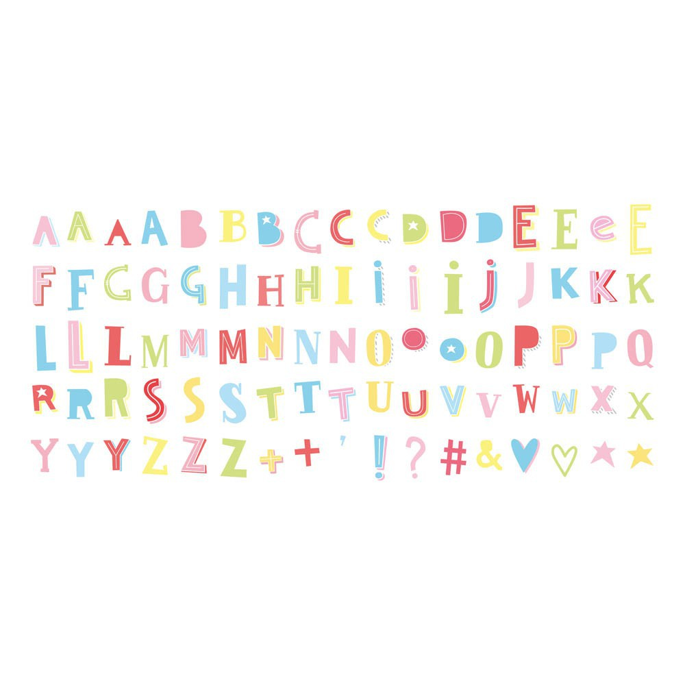 A little lovely company Set de 85 lettres funky couleur pour lightbox-product