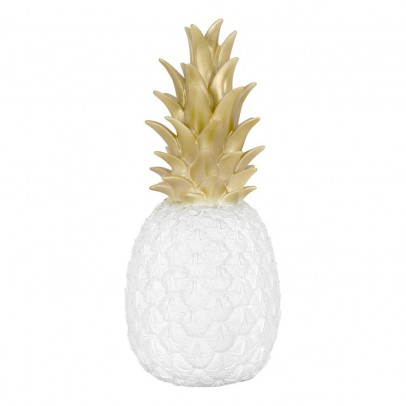 Goodnight Light White and Gold Pineapple Lamp-listing