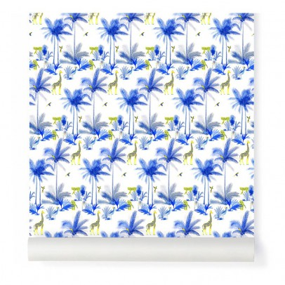 Little Cabari Papier peint Tamtam Bleu-listing