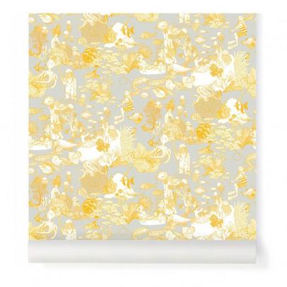 Little Cabari Papier peint Toile de Mer Jaune-listing