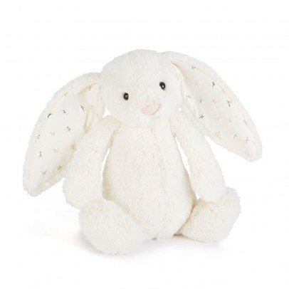 Jellycat Cream and Gold Star Bashful Bunny Soft Toy-listing